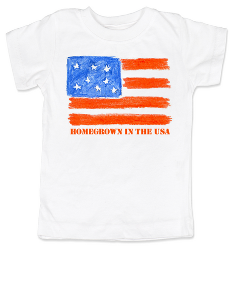 Homegrown in the USA toddler shirt, patriotic toddler shirt, fourth of july, memorial day, veterans day, American pride toddler t-shirt, proud to be american, born in the USA toddler shirt