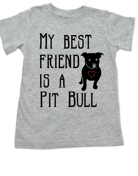 kids Best Friend, Love-a-bull toddler shirt, personalized dog lover toddler shirt, cute pit bull kid clothes, badass dog toddler shirt, I love my pit bull toddler shirt, pit bull best friend toddler shirt, grey