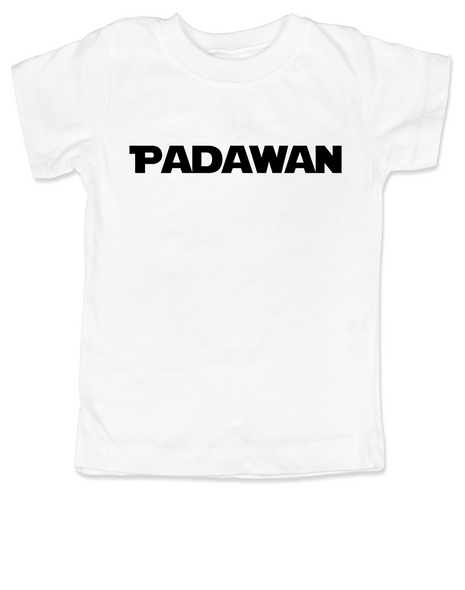 Star Wars padawan toddler shirt, young jedi kid tee, the force is strong with this one, Young Jedi toddler shirt, nerdy star wars toddler t-shirt, white