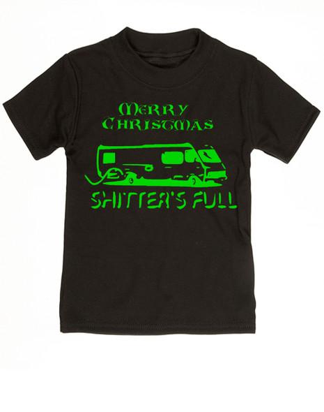 Shitter's full toddler shirt, Christmas Vacation movie toddler t-shirt, Shitter's Full Clark, Funny Christmas Toddler Shirt, Funny Christmas movie kid shirt, black