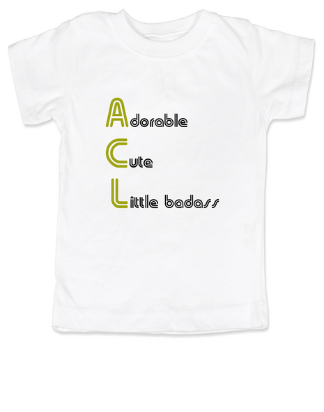 ACL Festival toddler shirt, Austin City Limits Music Festival, kid's first concert, rock and roll kid, Austin music scene toddler shirt, kid or toddler gift for Musician parents, white