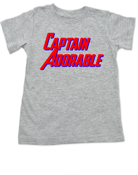 Captain Adorable toddler shirt, Captain America, Superhero toddler t-shirt, comic book kid t shirt, Avengers, Marvel toddler shirt, Patriotic kid clothes