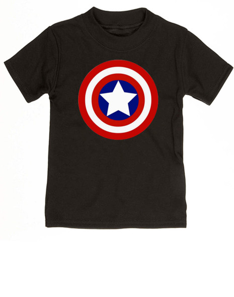 Captain Adorable toddler shirt, Captain America, Superhero toddler t-shirt, comic book kid t shirt, Avengers, Marvel toddler shirt, Patriotic kid clothes, black