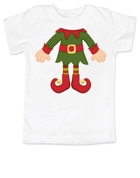 Elf Body Christmas toddler shirt, Little bodies toddler t-shirt, Santas little elf, Christmas party kid t shirt, cute funny christmas kid clothes, santas helper, Elf kid, white