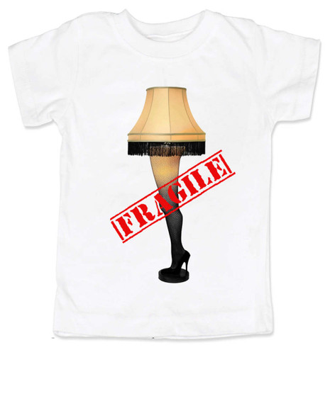 Christmas Story Leg Lamp toddler shirt, Fragile toddler t-shirt, classic Christmas Movie toddler shirt, A Christmas Story