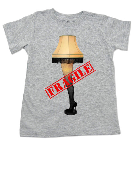 Christmas Story Leg Lamp toddler shirt, Fragile toddler t-shirt, classic Christmas Movie toddler shirt, A Christmas Story, grey