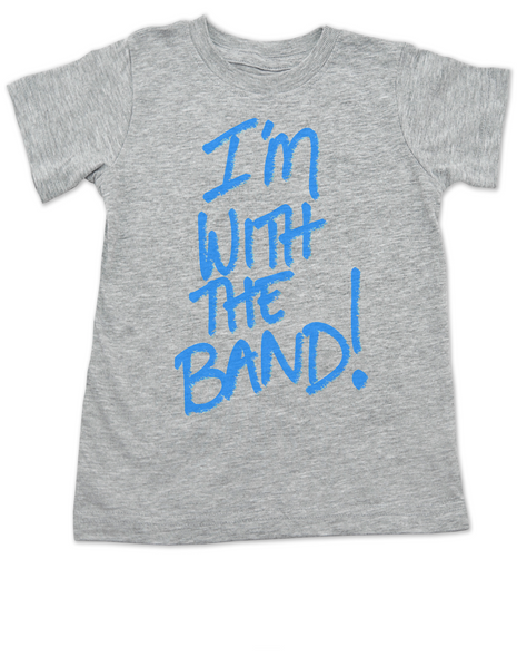 I'm with the band toddler shirt, Littlest groupie, little groupie toddler shirt, funny band shirt for kids, With the band kid t-shirt, musician parents, my dad is in the band, my mom is in the band, grey