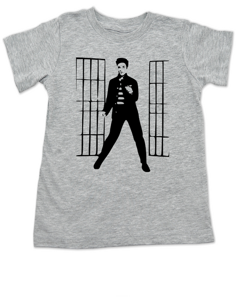 Elvis Presley jailhouse rock, Jailhouse Rock toddler shirt, elvis kid shirt, classic rock and roll toddler shirt, Elvis dancing toddler t-shirt, grey shirt