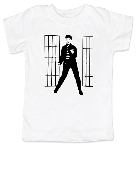 Elvis Presley jailhouse rock, Jailhouse Rock toddler shirt, elvis kid shirt, classic rock and roll toddler shirt, Elvis dancing toddler t-shirt