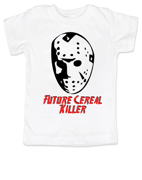 Jason Cereal Killer toddler shirt, Future cereal killer halloween toddler shirt, Friday the 13th kid shirt, funny jason halloween toddler shirt, Cereal killer toddler, jason mask halloween shirt, creepy halloween toddler shirt
