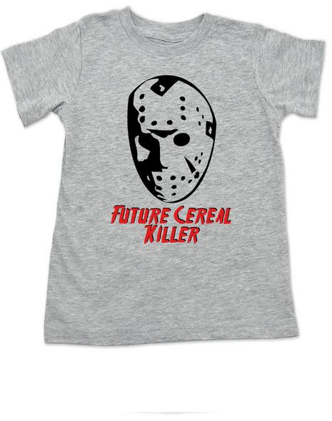 Jason Cereal Killer toddler shirt, Future cereal killer halloween toddler shirt, Friday the 13th kid shirt, funny jason halloween toddler shirt, Cereal killer toddler, jason mask halloween shirt, creepy halloween toddler shirt, grey