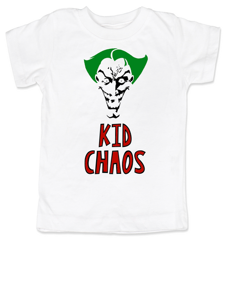 Kid Chaos toddler shirt, Batman Villain toddler shirt, Bad Guy kid, The Joker toddler t-shirt, Halloween kid tee, Halloween toddler shirt, Joker kid tee, Unique Halloween shirt, Chaotic toddler, Funny Halloween kid Clothes, cool Toddler Halloween Shirts, crazy toddler shirt