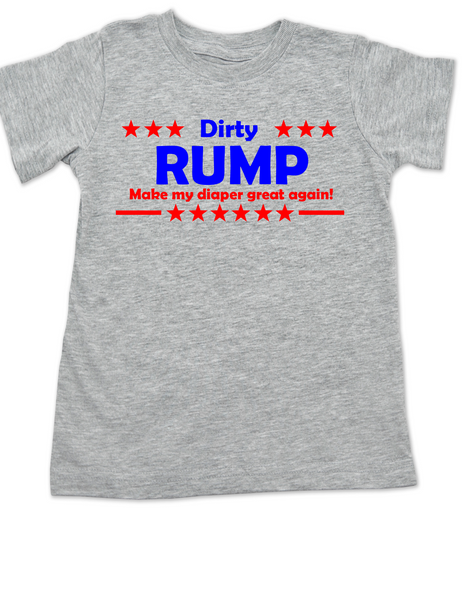 Donald Trump, Political toddler shirt, Make my diaper great again, Make America Great Again, 2016 Election toddler t-shirt, Politics, Future Republican, grey