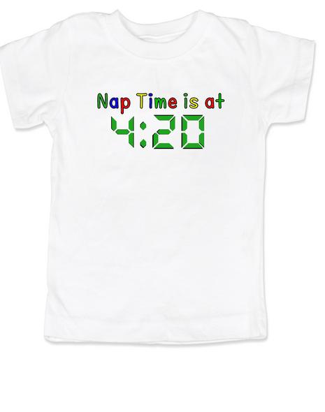 Nap Time is at 420 toddler shirt, stoner parents, Pot toddler t-shirt, funny weed toddler shirt, funny toddler shirt about marijuana