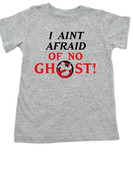 Ghostbusters toddler shirt, Halloween toddler t-shirt, classic sci-fi movie kid t shirt, I Aint Afraid of No Ghost, grey