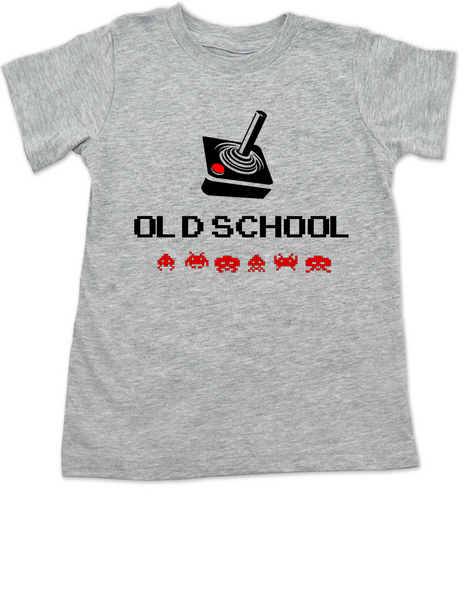 Old School toddler shirt, Gamer kid, Geeky Gamer toddler t-shirt, Video Game kid t shirt, 80's kid toddler shirt, retro gaming toddler shirt, joystick controller toddler t-shirt, grey