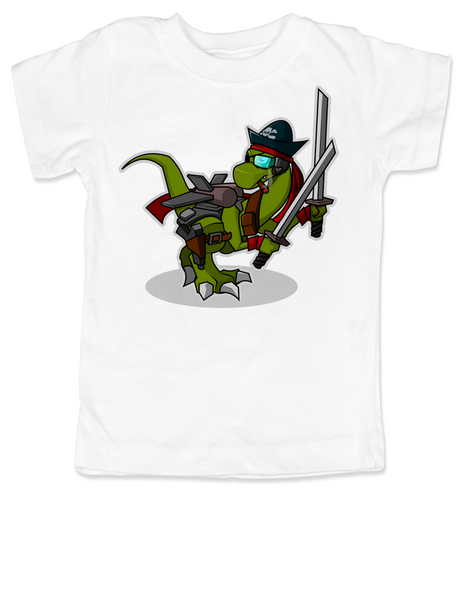 Samurai Pirate Trex toddler shirt, Ninja dinosaur toddler shirt, Pirate T-Rex kid shirt, Cool Trex toddler shirt, badass dinosaur kid shirt, Pirate Ninja Dinosaur