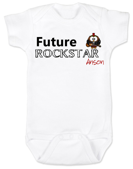 Future Rockstar personalized baby Bodysuit, Future Rock Star Onsie, Rock and Roll, Musician parents, guitar player, Rock music, Rocker baby, custom name