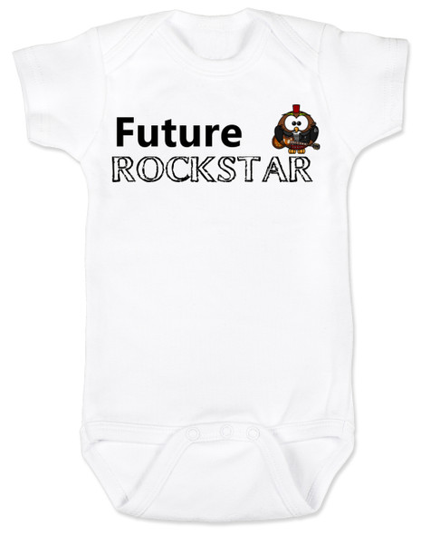 Future Rockstar personalized baby Bodysuit, Future Rock Star Onsie, Rock and Roll, Musician parents, guitar player, Rock music, Rocker baby