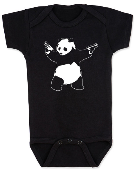 banksy, panda, panda with guns, guns, street art, black