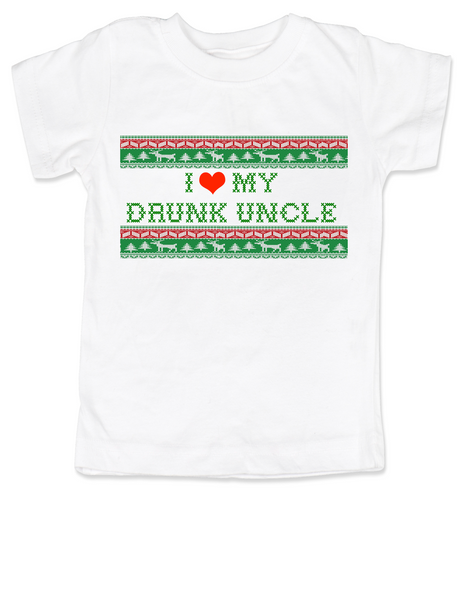 I love my drunk uncle toddler shirt, funny uncle toddler shirt, funny toddler gift from uncle, personalized uncle shirt for kids, ugly christmas sweater child shirt, personalized ugly christmas sweater toddler tee, drunk uncle kid shirt, I love my funny uncle toddler shirt