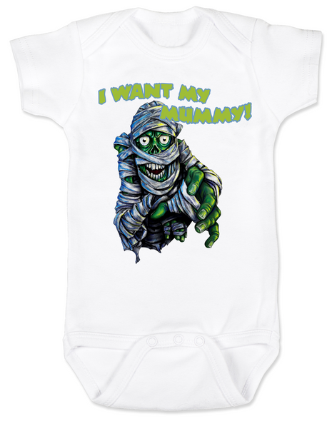 scary monster Bodysuit white