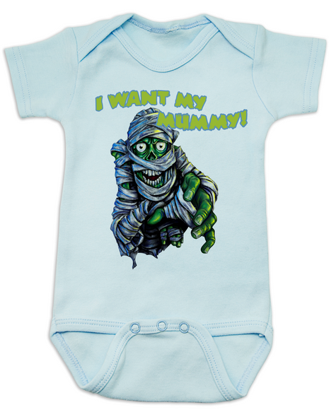 scary monster Bodysuit blue