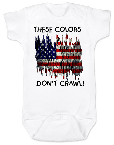 american flag Bodysuit white