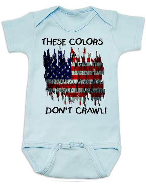 american flag Bodysuit blue