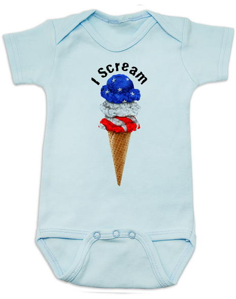 red white blue ice cream Bodysuit blue
