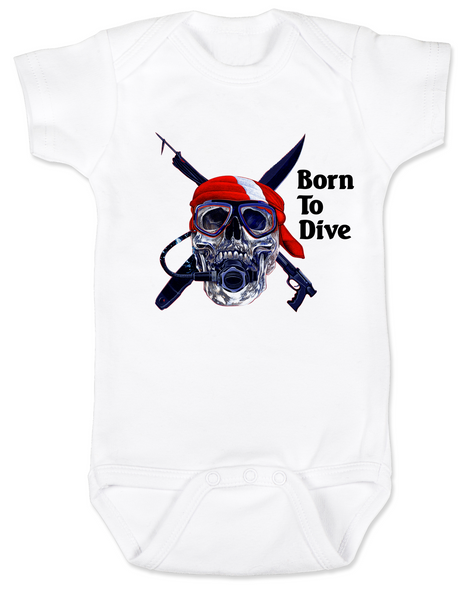 scuba diver Bodysuit white