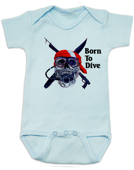 scuba diver Bodysuit blue