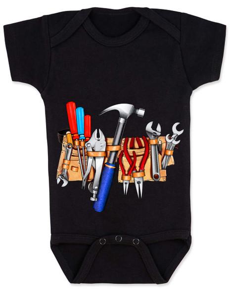Tool Belt baby Bodysuit black Tools baby Bodysuit Tools Bodysuit