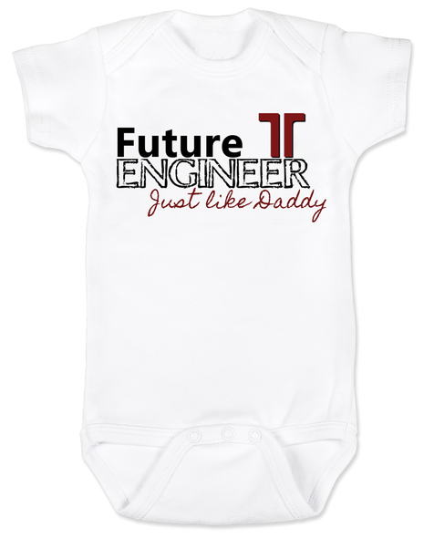 Future Engineer, Engineer Daddy, Engineer Mommy, Terracon baby Bodysuit, Engineer baby, Engineer like daddy