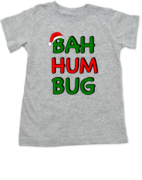 Humbug Toddler Shirt, christmas carol toddler shirt, Bah Hum Bug, funny kid christmas shirt