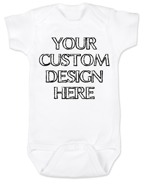 Design your own custom baby Bodysuit, create your own infant bodysuit, Personalized baby onsie, One of a kind baby present, customized baby gift