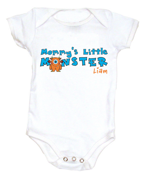Mommy's Little Monster Personalized Baby Bodysuit