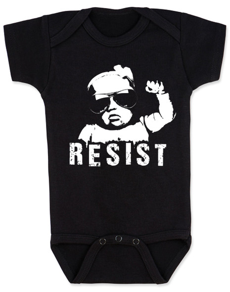 Resist Baby Bodysuit, protest baby Bodysuit, Resist infant bodysuit, , funny political baby girl clothes, baby protester, anti-trump baby gift, black