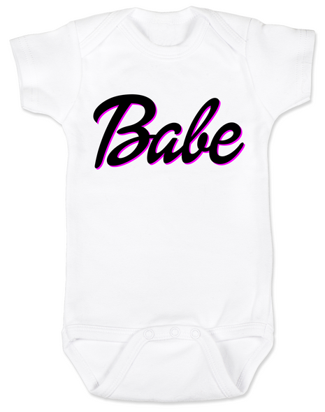 Babe baby Bodysuit, little barbie girl baby Bodysuit, Future babe