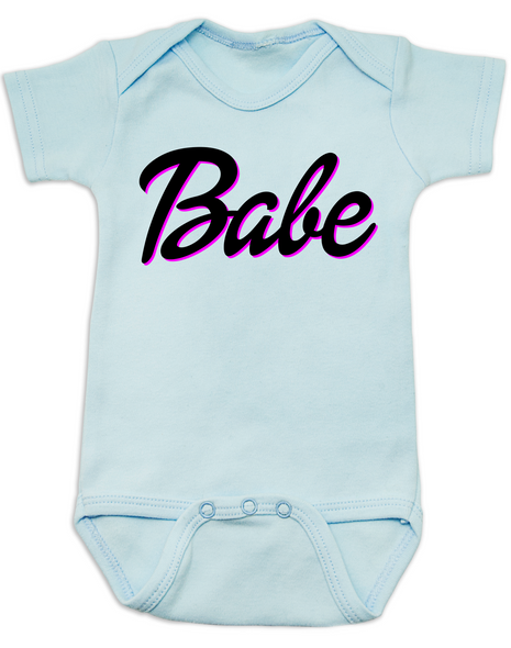 Babe baby Bodysuit, little barbie girl baby Bodysuit, Future babe, blue
