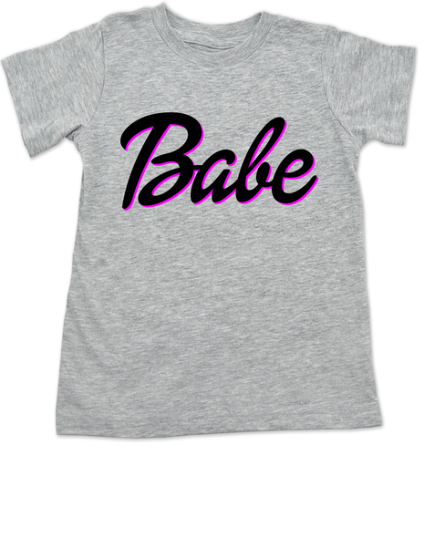 Babe toddler shirt, little barbie girl toddler shirt, Future babe, grey