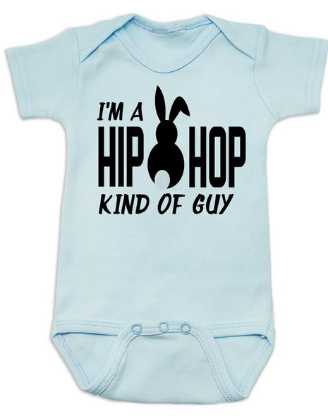 Hip Hop kind of guy baby Bodysuit, hip hop kind of girl baby Bodysuit, Cool Easter baby bodysuit, funny easter onsie, hip hop music baby Bodysuit, Easter baby gift for hip parents, I'm a hip hop kind of guy, blue