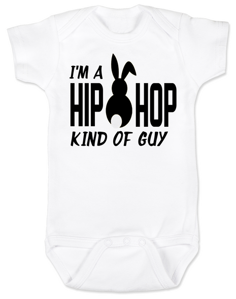 Hip Hop kind of guy baby Bodysuit, hip hop kind of girl baby Bodysuit, Cool Easter baby bodysuit, funny easter onsie, hip hop music baby Bodysuit, Easter baby gift for hip parents, I'm a hip hop kind of guy