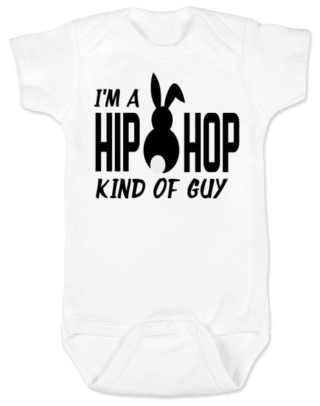 Hip Hop kind of guy baby Bodysuit, hip hop kind of girl baby Bodysuit, Cool Easter baby bodysuit, funny easter onsie, hip hop music baby Bodysuit, Easter baby gift for hip parents, I'm a hip hop kind of guy