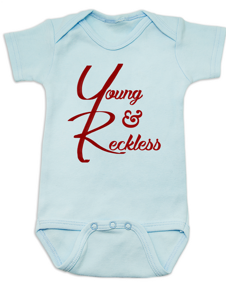 The young and reckless baby Bodysuit, the young and the restless baby Bodysuit, The Young & The Reckless, Young & Reckless babies, Soap Opera baby gift, blue