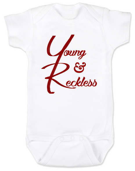 The young and reckless baby Bodysuit, the young and the restless baby Bodysuit, The Young & The Reckless, Young & Reckless babies, Soap Opera baby gift