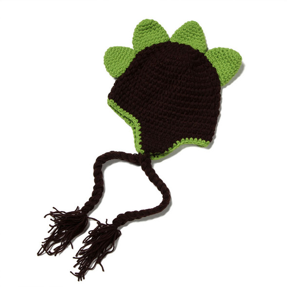 Crochet Dinosaur baby hat, green