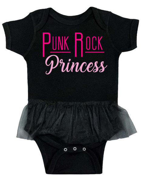 Punk Rock Princess Tutu baby Bodysuit, Cool baby Bodysuit with tutu, Punk rock baby girl, Rocker baby girl, punk rock princess, Little Badass baby girl, baby clothes for cool little girls, baby girl is ready to rock, Rock and Roll infant bodysuit, Metal baby tutu onsie, black & pink baby Bodysuit