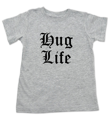 Hug Life toddler shirt, grey