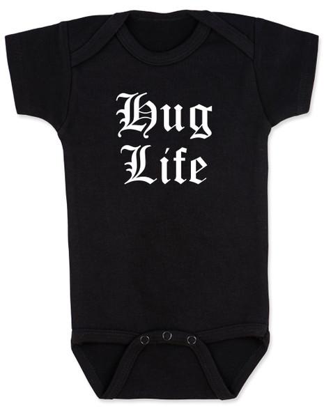 Hug Life gangsta baby Bodysuit, black